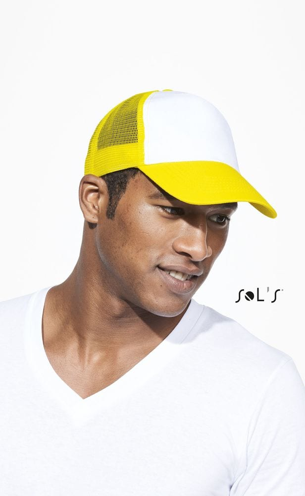 Sol's 88107 - Five Panel Cap With Mesh Bull