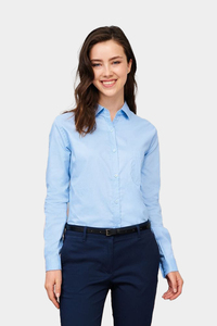 Sols 00554 - DAMEN MICRO TWILL BLUSE LANGARM BUSINESS
