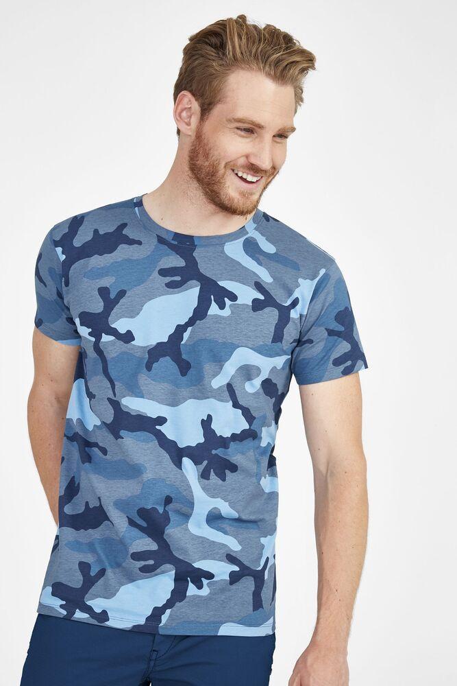 Sol's 01188 - Men's Round Collar T-Shirt Camo