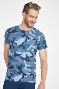 Sols 01188 - MENS ROUND COLLAR T-SHIRT CAMO