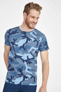Sols 01188 - Mens Round Collar T-Shirt Camo