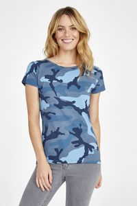 Sols 01187 - Womens Round Collar T-Shirt Camo