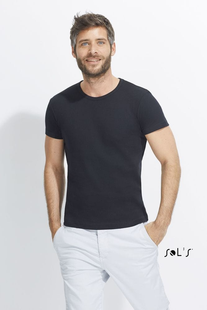 Sol's 11230 - MEN'S ROUND COLLAR CLOSE-FITTING T-SHIRT CITY