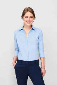 Sols 17010 - DAMEN STRETCH BLUSE 3/4 ARM EFFECT