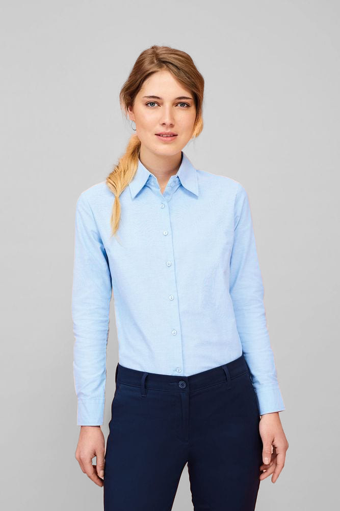 Sol's 16020 - Chemise Femme Oxford Manches Longues EMBASSY
