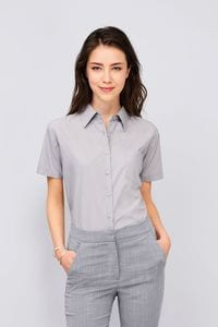 Sols 16070 - Short Sleeve Poplin Womens Shirt Escape