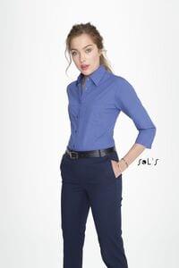 Sols 17050 - 3/4 Sleeve Poplin Womens Shirt Eternity