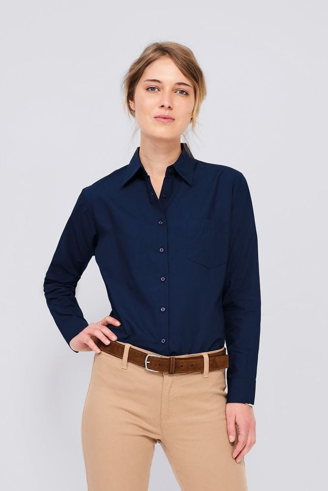 Sol's 16060 - Long Sleeve Poplin Women's Shirt Executive