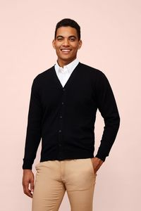 Sols 90011 - Mens V-Neck Knitted Cardigan Golden