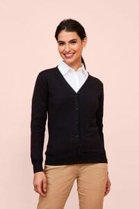 Sols 90012 - Womens V-Neck Knitted Cardigan Golden