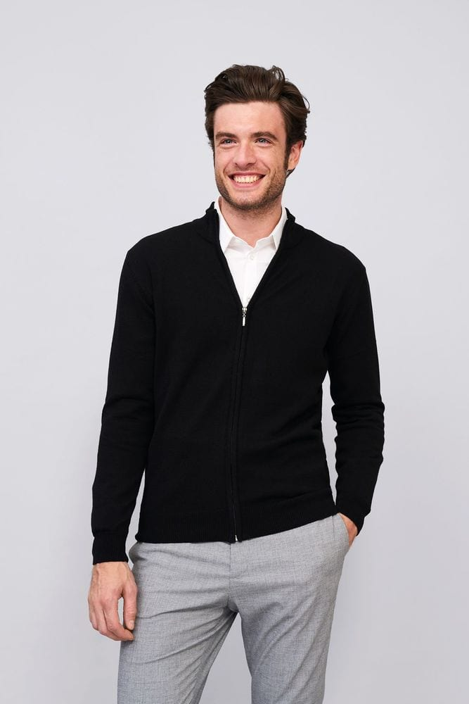 Sol's 00548 - Men's Zipped Knitted Cardigan Gordon