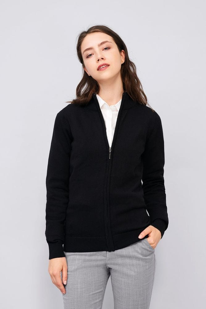 Sol's 00550 - Women's Zipped Knitted Cardigan Gordon