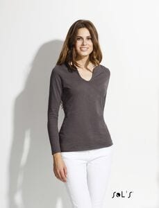 Sols 11426 - WOMENS SLUB LONG SLEEVE T-SHIRT MARAIS