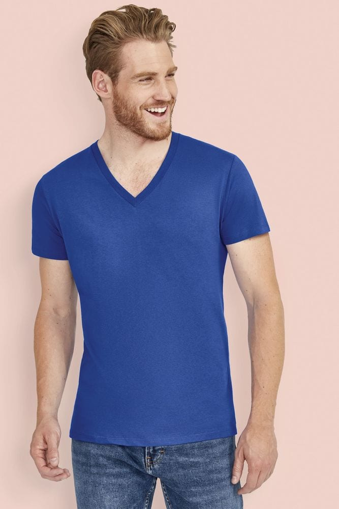 """Sol's 11155 - Tee-Shirt Homme Col """"V'' MASTER"""