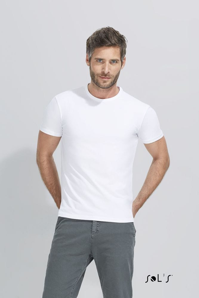 Sol's 11934 - MEN'S ROUND COLLAR T-SHIRT MILANO