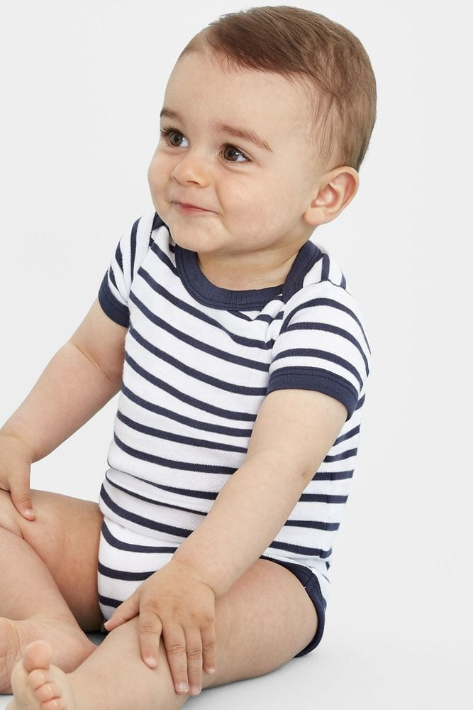 Sol's 01401 - Baby Striped Bodysuit Miles
