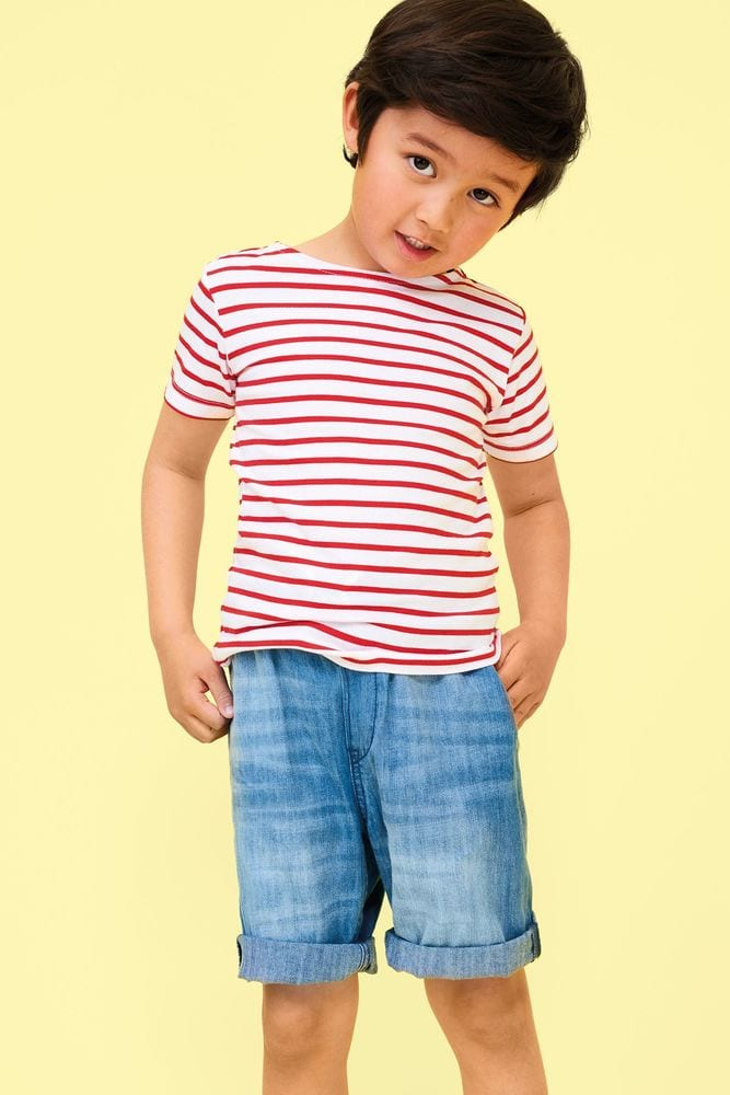 Sol's 01400 - KIDS' ROUND NECK STRIPED T-SHIRT MILES