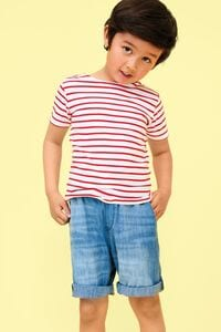 Sols 01400 - KIDS ROUND NECK STRIPED T-SHIRT MILES