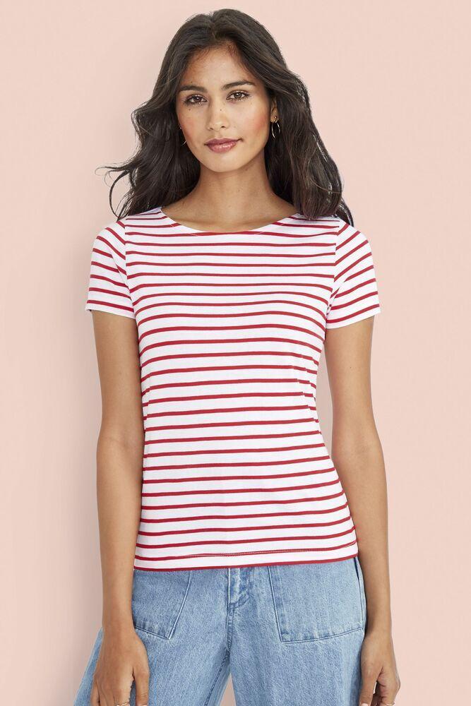 Sol's 01399 - Tee-Shirt Femme Col Rond Rayé MILES
