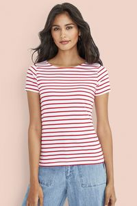 Sols 01399 - Womens Round Neck Striped T-Shirt Miles
