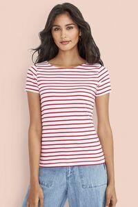Sols 01399 - Tee-Shirt Femme Col Rond Rayé MILES