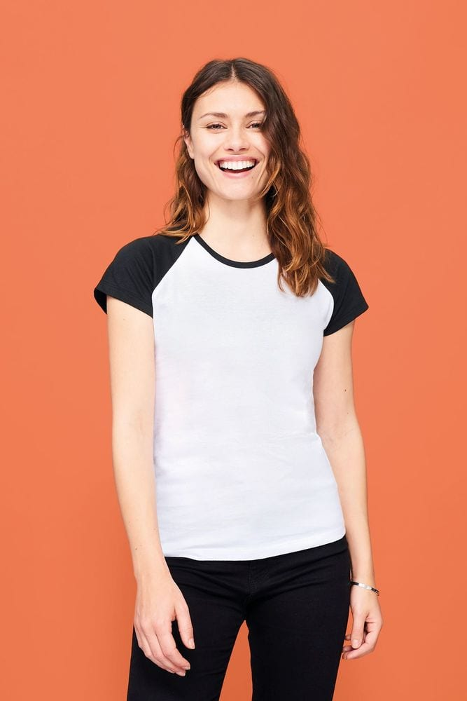Sol's 11195 - Women's 2-Colour Raglan Sleeve T-Shirt Milky