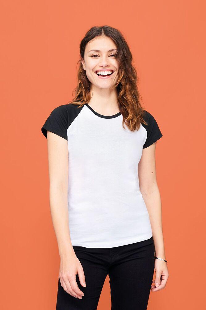 Sol's 11195 - Tee-Shirt Femme Bicolore MILKY