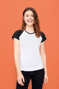 Sols 11195 - Tee-Shirt Femme Bicolore MILKY