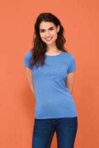 Sols 01181 - Womens Round Collar T-Shirt Mixed