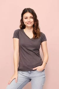 Sols 11388 - Damen V-Neck T-Shirt Moon