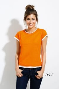 Sols 11570 - WOMENS ROLLED AND RAW CUT FINISH T-SHIRT MOOREA