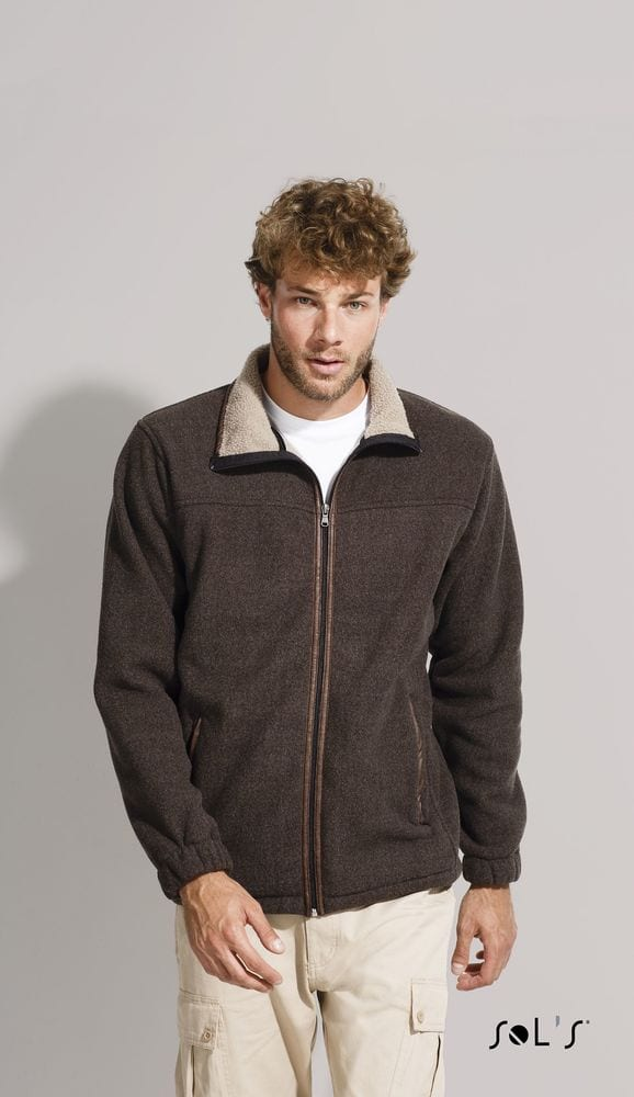 "Sol's 00588 - MEN'S POLAR FLEECE JACKET WITH ""SHERPA"" LINING NEPAL"