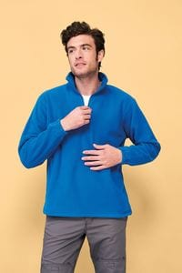 Sols 56000 - Heren Fleece Sweater Met 1/4 Rits Ness