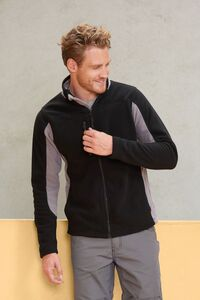 Sols 55500 - Mens Bicolor Zipped Fleece Jacket Nordic