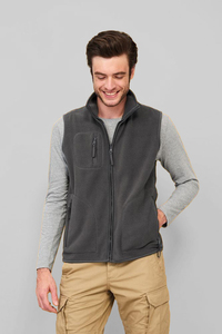 Sols 51000 - UNISEX SLEEVELESS FLEECE CARDIGAN NORWAY