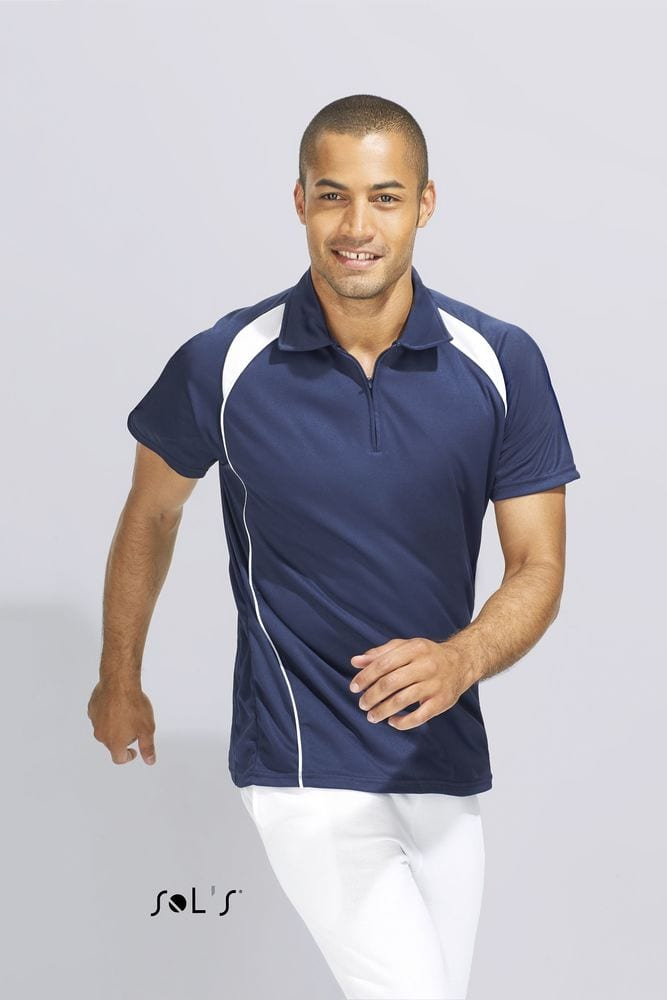 Sol's 11418 - MEN'S TWO-COLOURED POLO SHIRT PALLADIUM