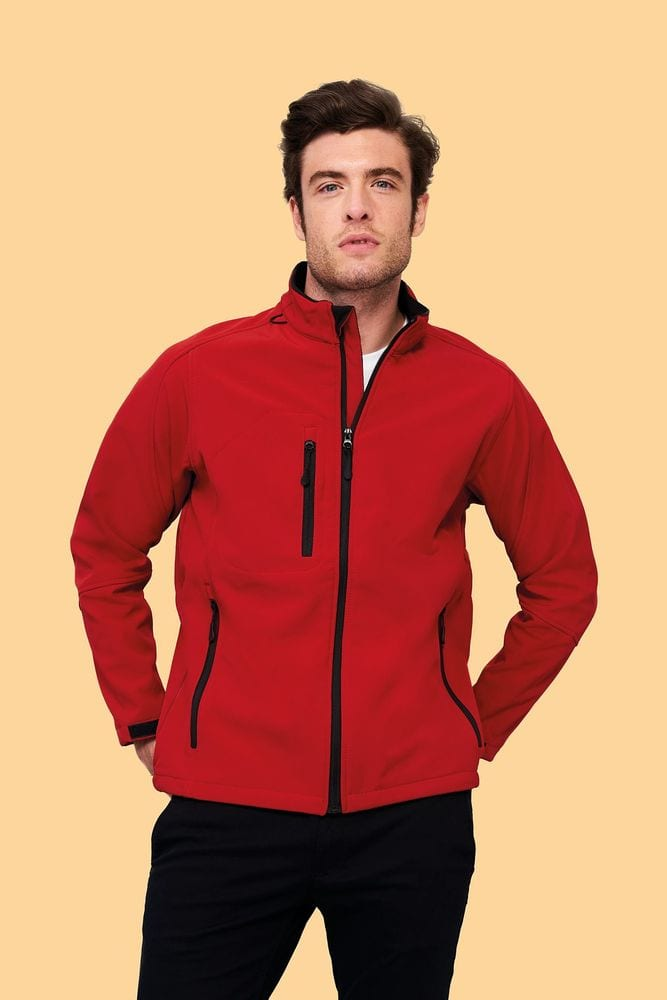 Sol's 46600 - Men's Softshell Zipped Jacket Relax