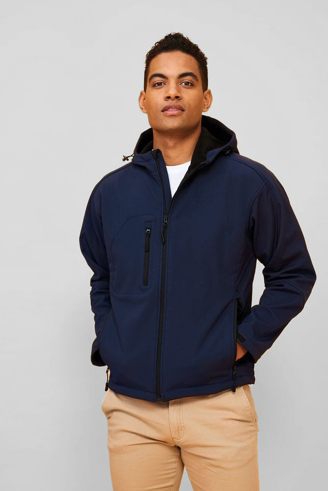 Sol's 46602 - Softshell Homme À Capuche Replay