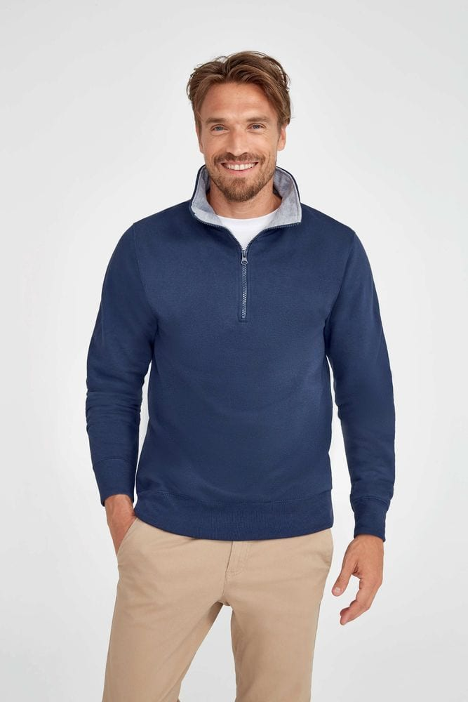 Sol's 47300 - SWEAT-SHIRT HOMME COL CAMIONNEUR SCOTT