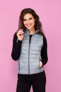 Sols 01437 - WOMENS LIGHTWEIGHT BODYWARMER WAVE