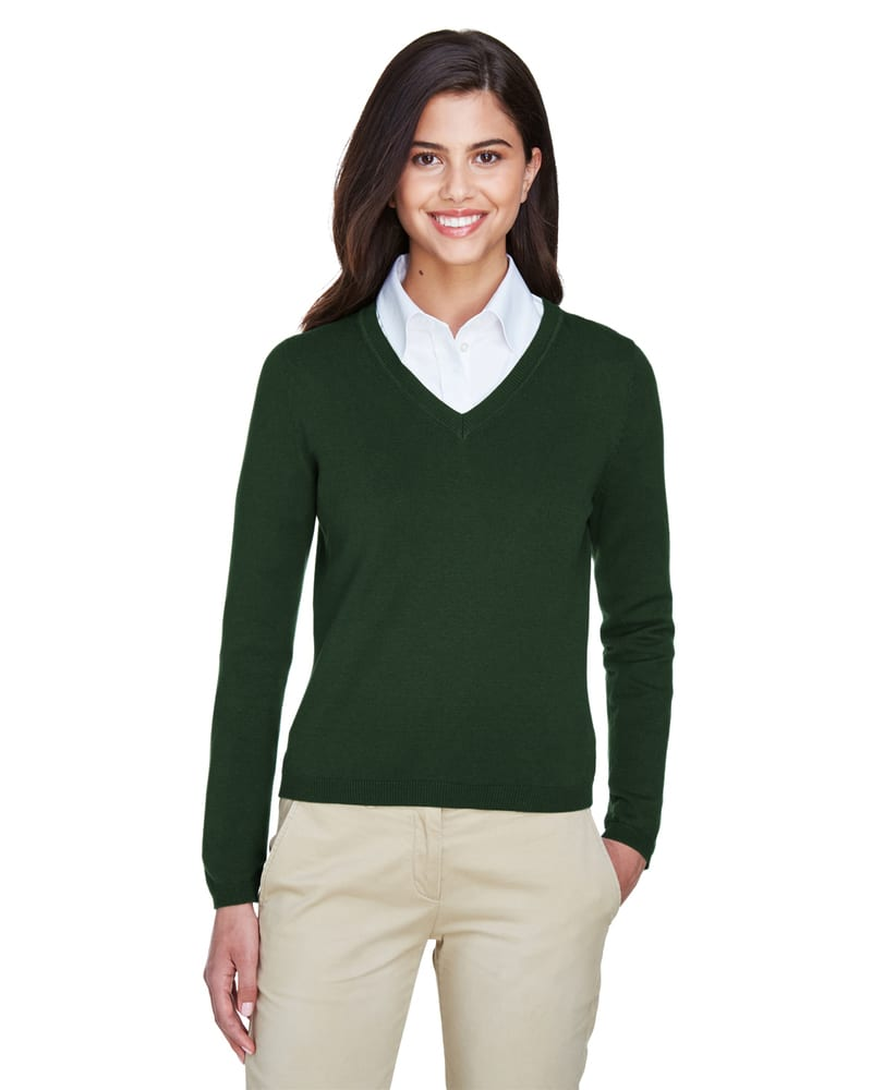 Devon & Jones D475W - Ladies V-Neck Sweater