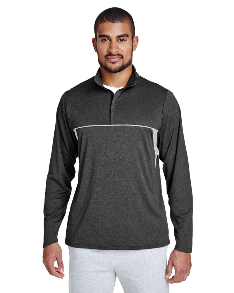 Team 365 TT26 - Men's Excel Mélange Interlock Performance Quarter-Zip Top