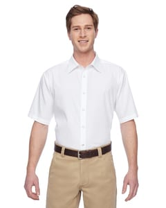 Harriton M545 - Mens Advantage Snap Closure Short-Sleeve Shirt