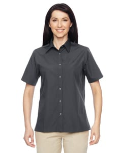 Harriton M545W - Ladies Advantage Snap Closure Short-Sleeve Shirt