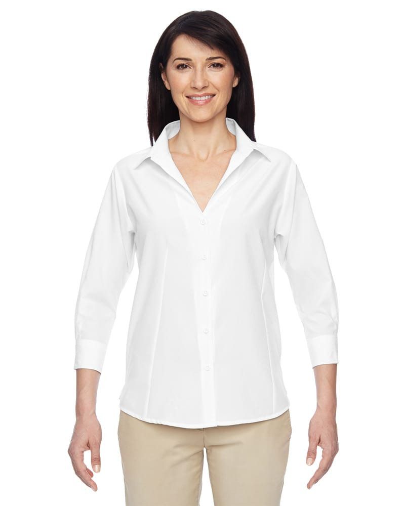 Harriton M610W - Ladies Paradise Three-Quarter Sleeve Performance Shirt