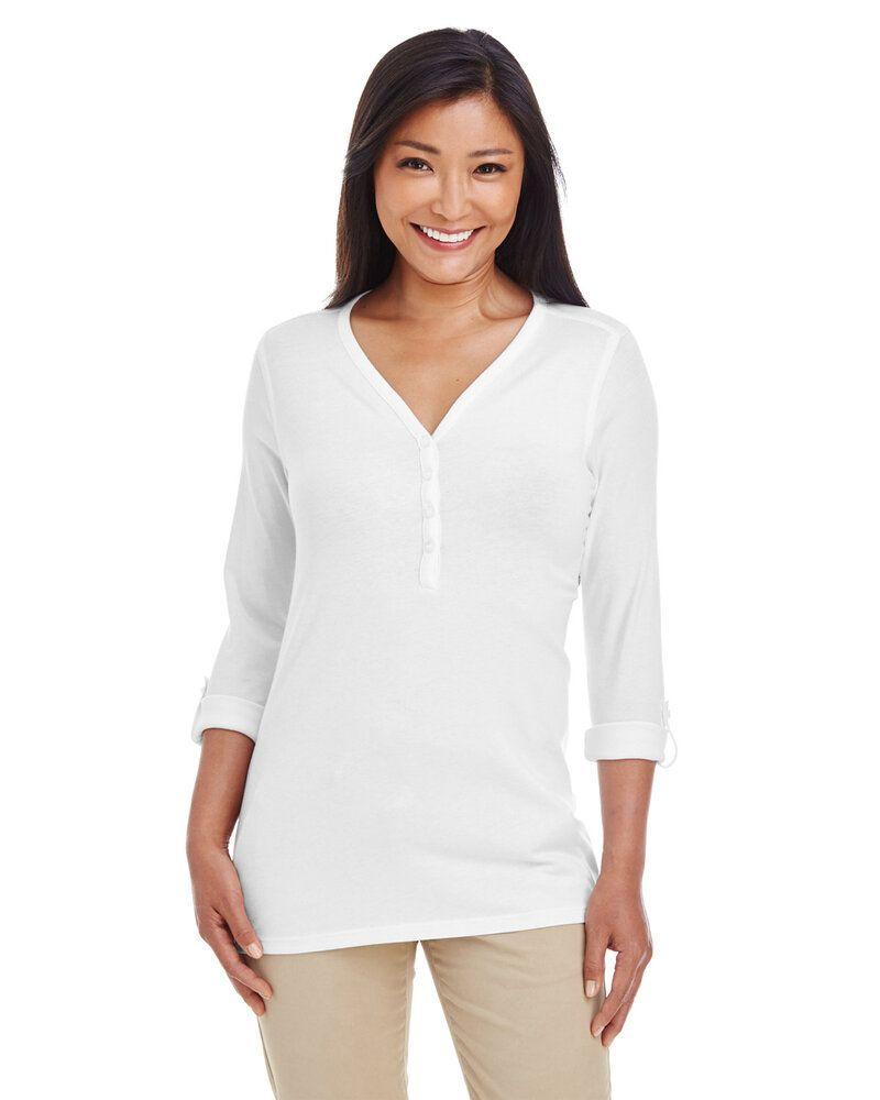 Devon & Jones DP186W - Chandail en tricot à manches transformables avec patte en Y pour femmes Perfect Fit