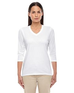 Devon & Jones DP184W - T-Shirt Top col V longueur bracelet pour femmes Perfect Fit