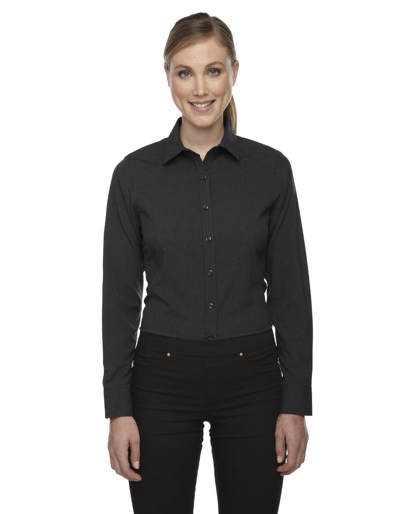 Ash City North End Sport Blue 78802 - Ladies Mélange Performance Shirt