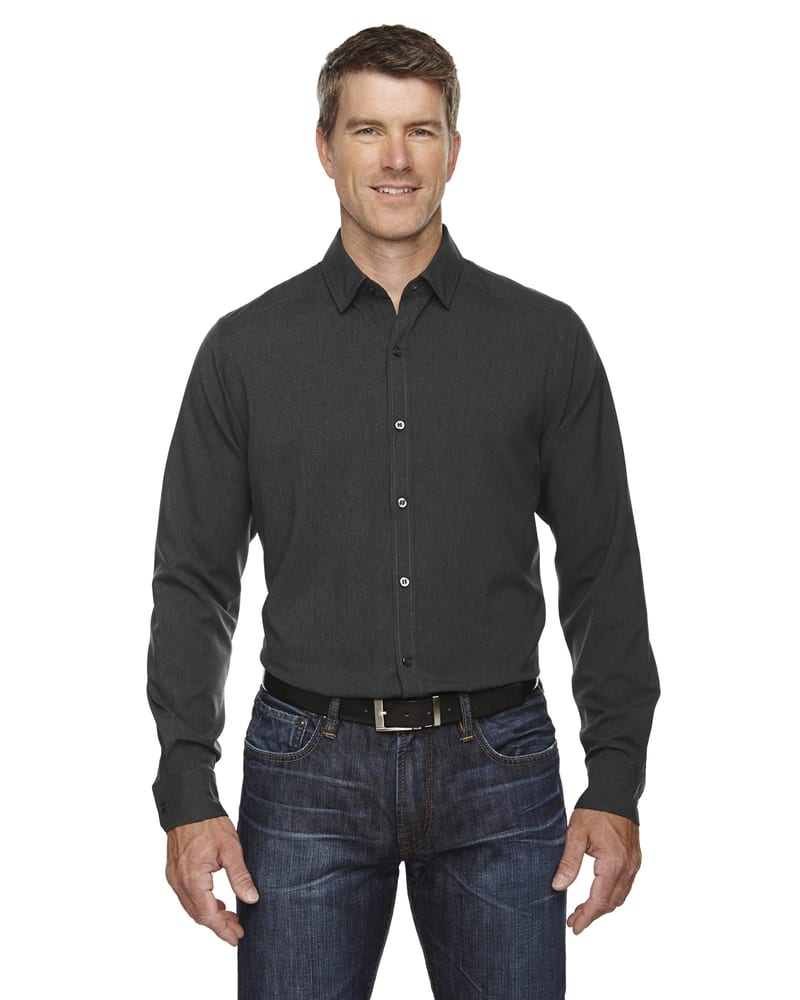 Ash City North End Sport Blue 88802 - Men's Mélange Performance Shirt