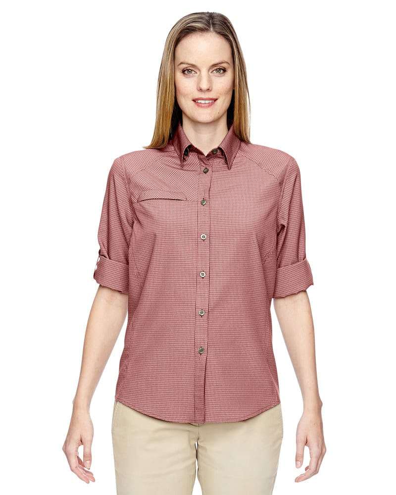 Ash City North End 77046 - Ladies Excursion F.B.C. Textured Performance Shirt